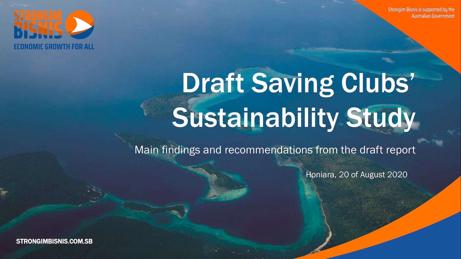 Savings Clubs and Sustainability: Draft Findings